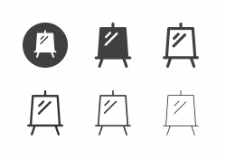 Canvas Painting Stand Icons - Multi Series