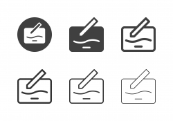 Drawing Tablet Icons - Multi Series