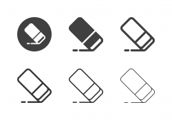 Eraser Icons - Multi Series