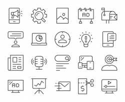 Marketing - Light Line Icons