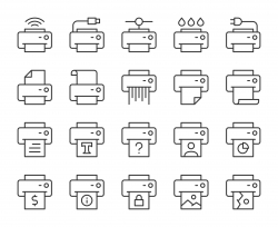 Printer - Light Line Icons