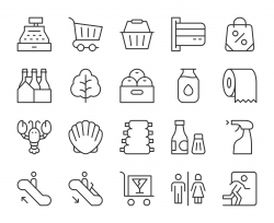 Supermarket - Light Line Icons