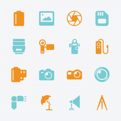 Photography Icons - Color Series | EPS10