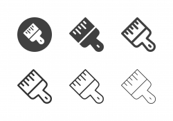 Paint Brush Icons - Multi Series