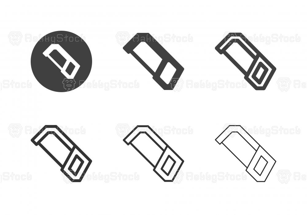 Metal Hand Saw Icons - Multi Series