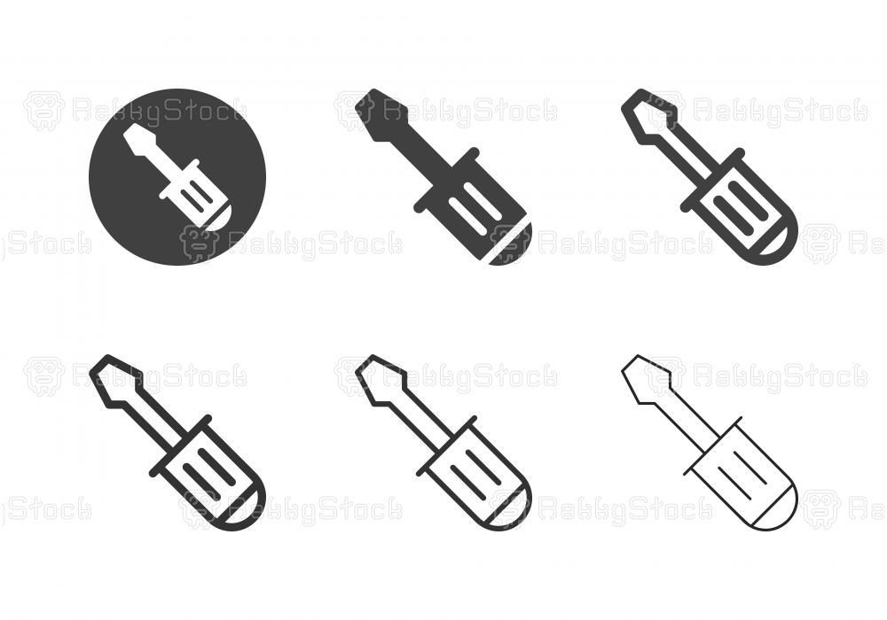 Screwdriver Icons - Multi Series