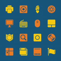 Computer System Icons - Color Series   EPS10