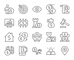 Business and Investment - Light Line Icons