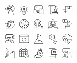 Startup Business - Light Line Icons