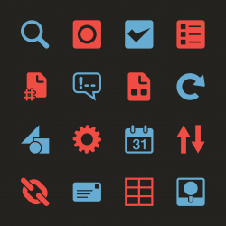 Web Developer Tool Icons - Color Series   EPS10
