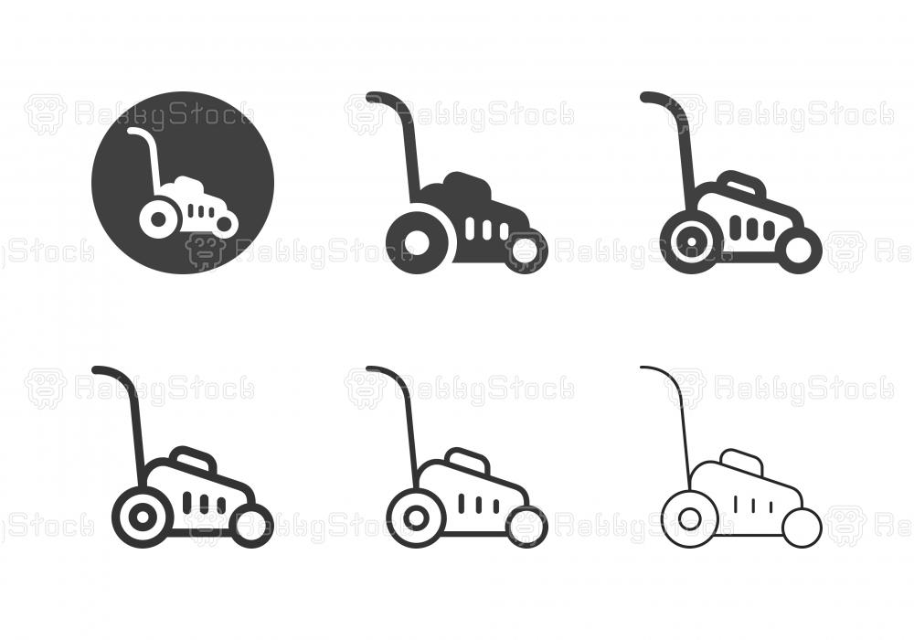 Lawn Mower Icons - Multi Series