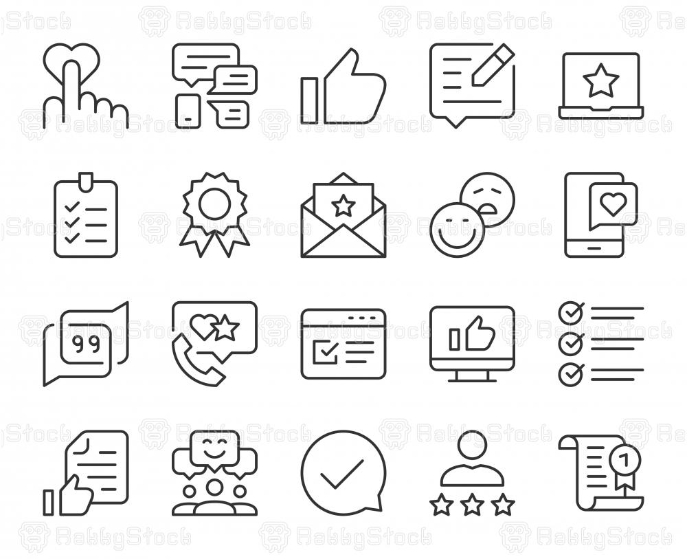 Testimonial - Light Line Icons