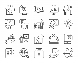 Business Consulting - Light Line Icons