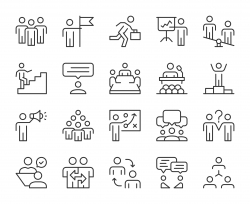 Business People - Light Line Icons