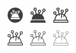 Pincushion Icons - Multi Series