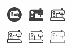 Sewing Machine Icons - Multi Series