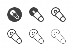 Safety Pin Icons - Multi Series
