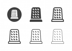 Sewing Thimble Icons - Multi Series