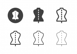Tailor Mannequin Icons - Multi Series