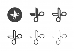 Tailor Scissors Icons - Multi Series