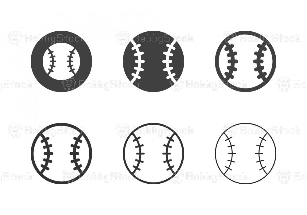 Baseball Ball Icons - Multi Series