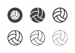 Volleyball Ball Icons - Multi Series