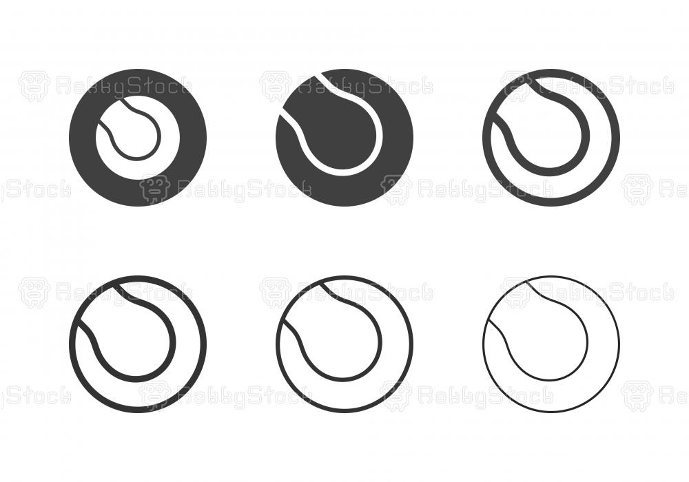 Tennis Ball Icons - Multi Series