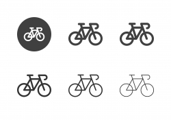 Racing Bicycle Icons - Multi Series