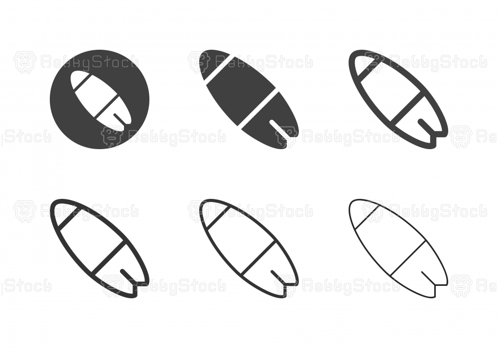 Surfboard Icons - Multi Series