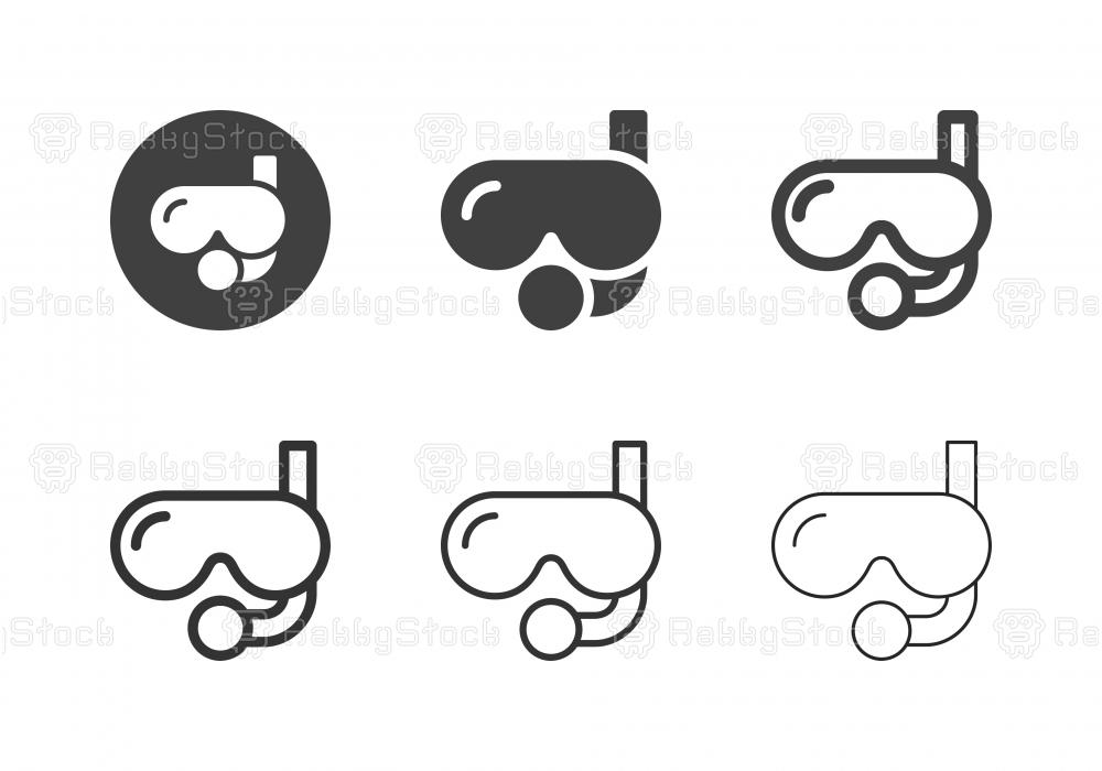 Scuba Mask Icons - Multi Series