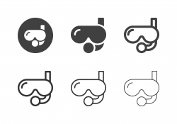 Scuba Mask Icons - Multi Series