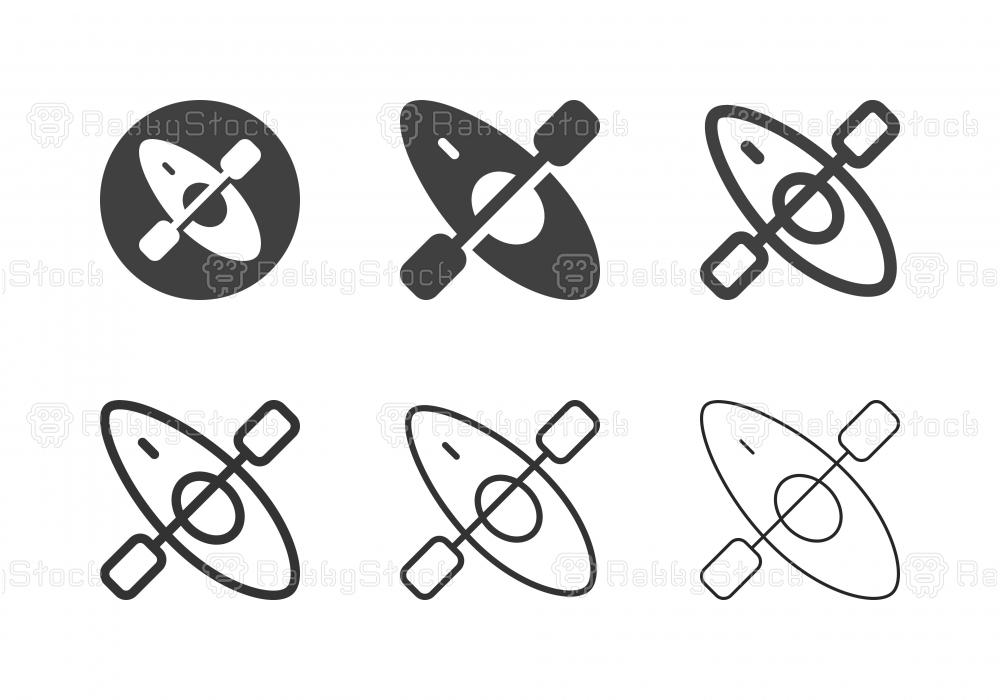 Kayak Icons - Multi Series