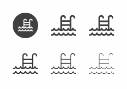 Swimming Pool Icons - Multi Series