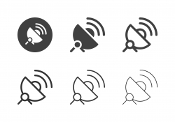 Satellite Dish Icons - Multi Series
