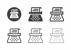 Typewriter Icons - Multi Series