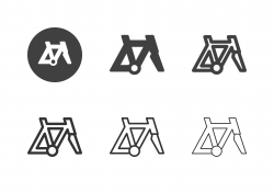 Racing Bicycle Frame Icons - Multi Series