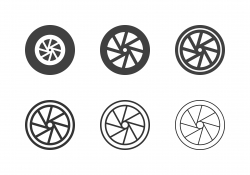Bicycle Wheel Icons - Multi Series