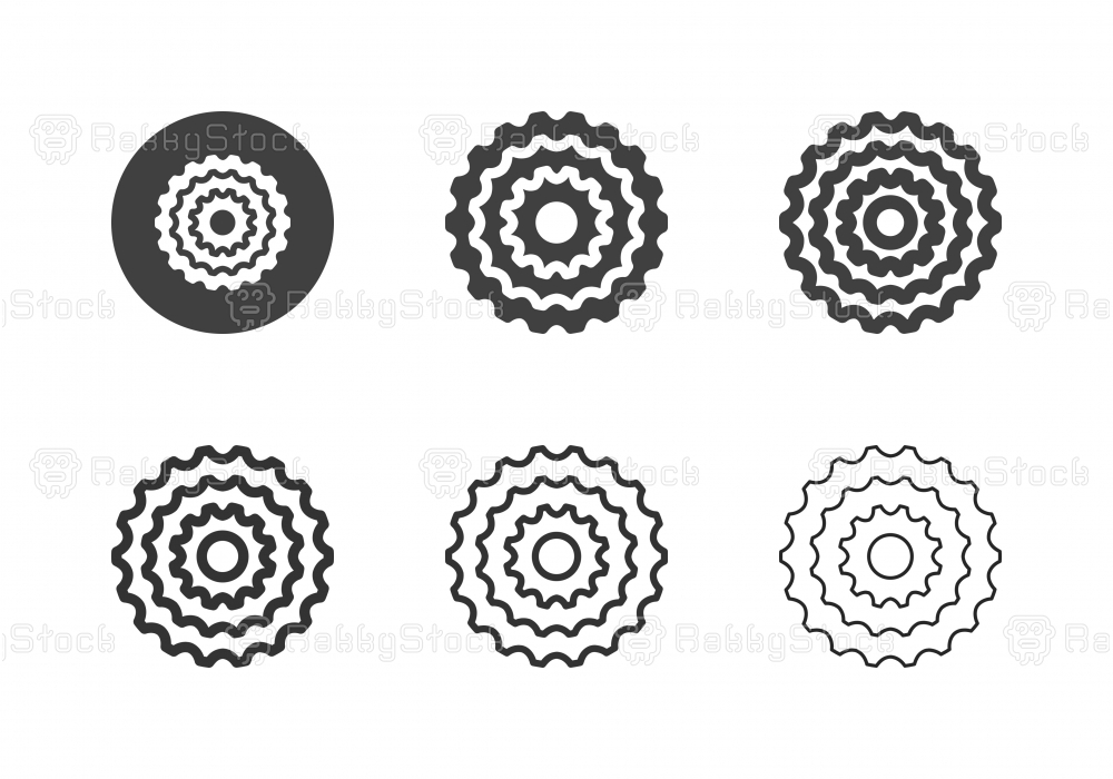Bicycle Cassette Icons - Multi Series