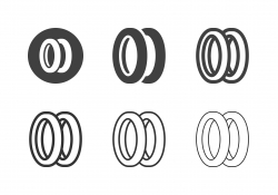 Bicycle Tire Icons - Multi Series