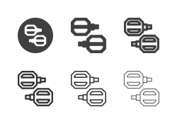 Bicycle Pedal Icons - Multi Series