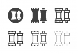 Bicycle Bottom Bracket Icons - Multi Series