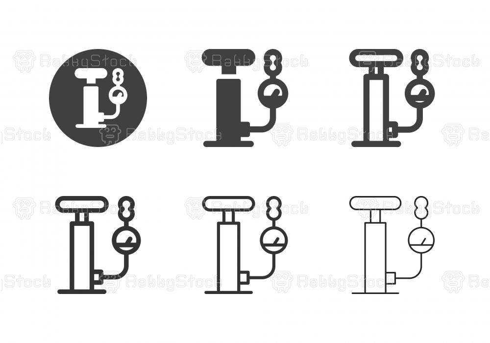 Hand Air Pump Icons - Multi Series