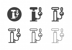 Hand Air Pump Icons - Multi Series