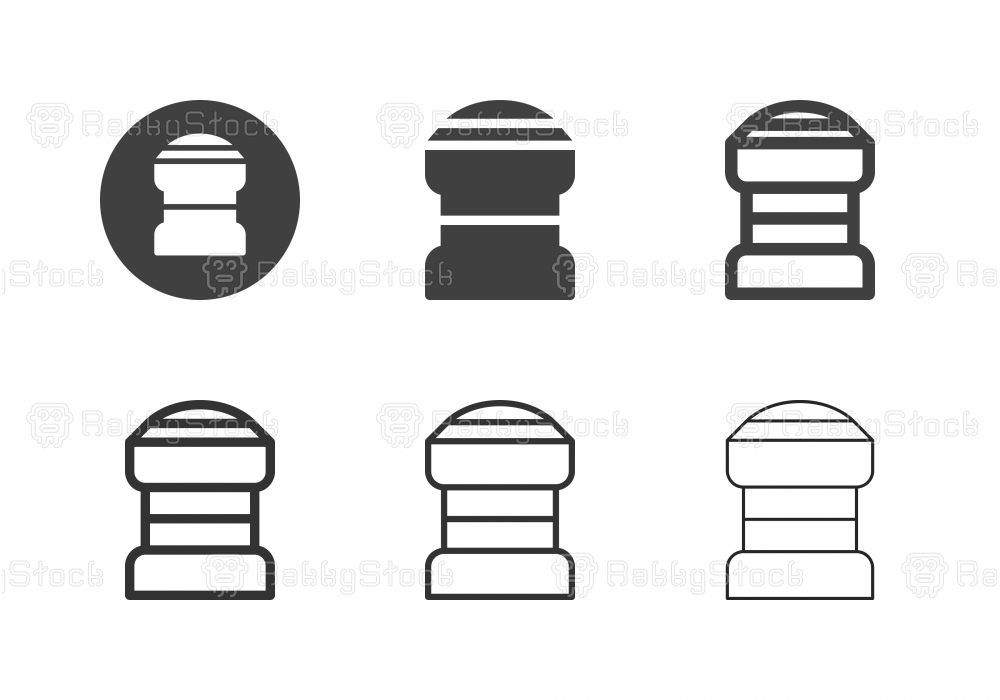 Bicycle Headset Icons - Multi Series