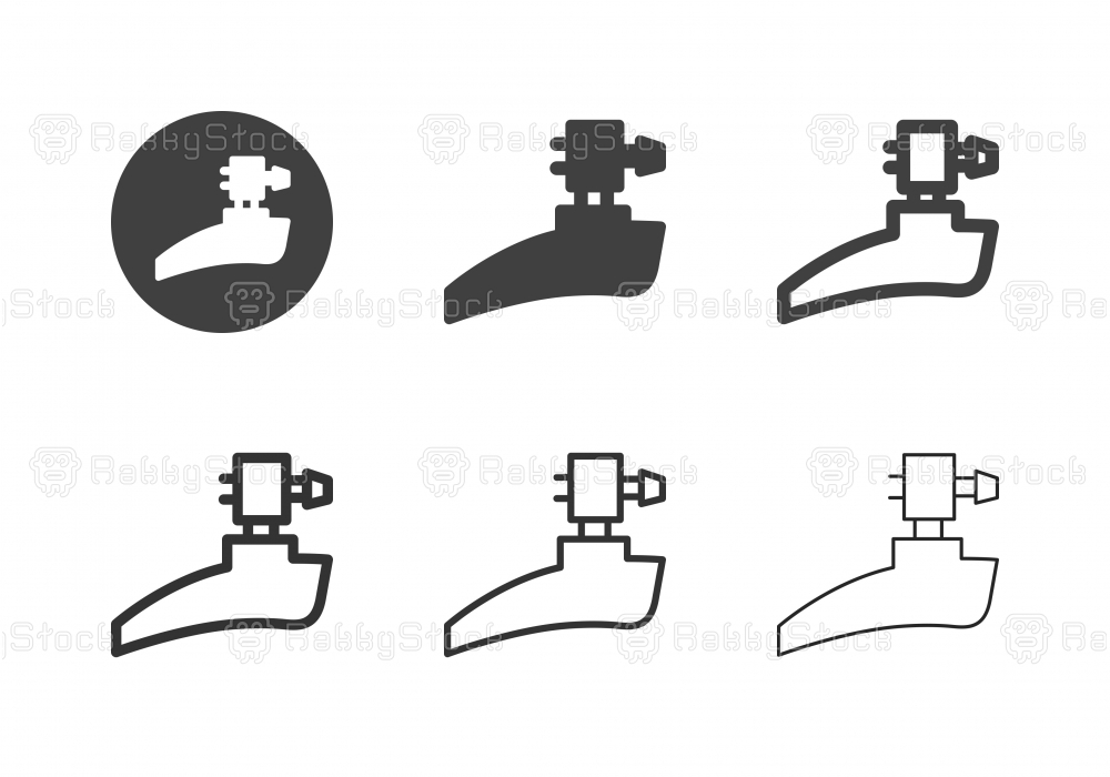 Bicycle Front Derailleur Icons - Multi Series