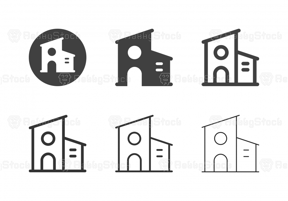 Modern House Icons - Multi Series