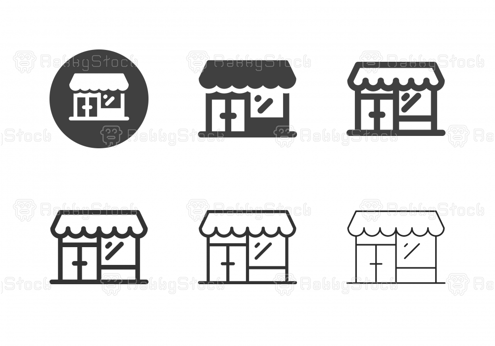 Retail Store Icons - Multi Series