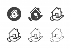 Hand Holding Home Icons - Multi Series