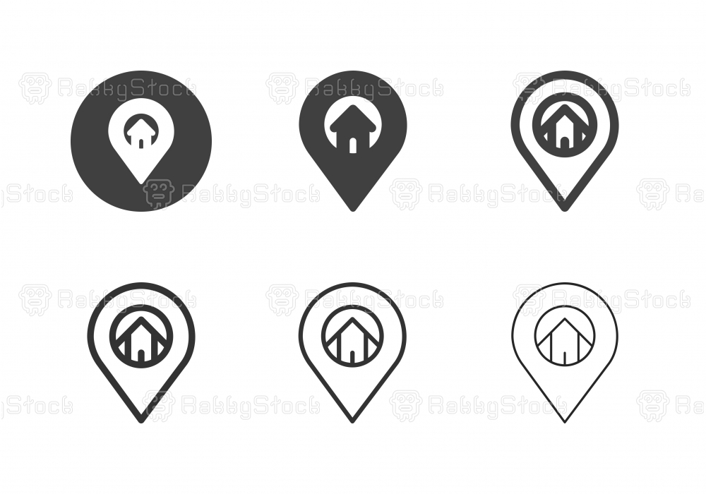 House Location Icons - Multi Series
