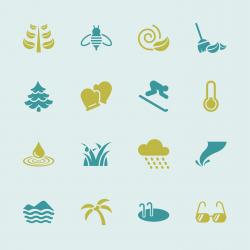 All Season Icons Set 2 - Color Series   EPS10